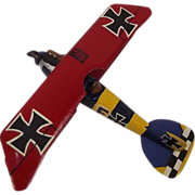 Givejoy Toys Skybirds 1/72nd Scale Aircraft Albatros D.V  Red/Blue/Yellow Made 1935-42