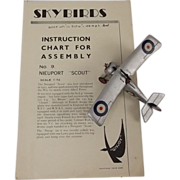 Givejoy Toys Skybirds No 9 1/72nd Scale Aircraft Nieuport Scout Made 1935-42
