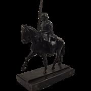 Circa 1940 Bronze Of WW1 German Cavalry Figure By Emy Kocke-Potthoff