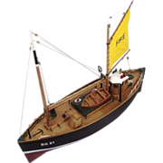 "Kit Built R/C Model Of The Motor Fifie Boat ""Amaranth"" 1:40 Scale"