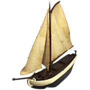 Circa 1943 Scratch Built Dutch Barge Pond Yacht