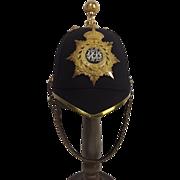 Edwardian Royal Army Veterinary Department Officers Blue Cloth Helmet