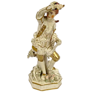 Circa 1830 Royal Crown Derby Allegorical Ancient Fire Elemental Figurine