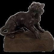 Japanese School (Mejii Period) Bronze Fierce Tiger