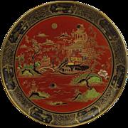 Circa 1920 Carlton Ware Temple Pattern Circular Charger