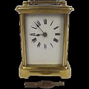 Circa 1907 Brass Carriage Cased Clock - Serviced