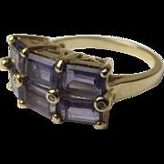 Fine 9ct Gold 6 Stone Amethyst Dress Ring UK Size N US 6¾