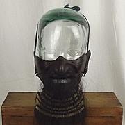 """Japanese Edo Period """"Tetsu Sabiji Urushi Nuri Ressei"""" Half Mask"""