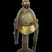 Standard British Merryweather Pattern Brass Fire Brigade Helmet