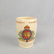King George VI & Queen Elizabeth Coronation Porcelain Beaker 1937 Gosport