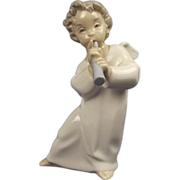 Lladro 4540 Porcelain Figure Of Angel with Flute