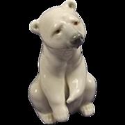 Lladro 1208 Porcelain Figure Of Polar Bear Resting