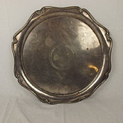 White Star Line Silver Plate Tray Circa 1910 Probably RMS Olympic