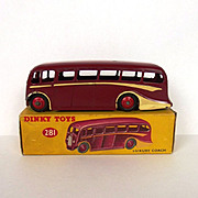 Boxed Dinky No.281 Luxury Coach 1954-1960 Maroon