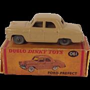 Dinky Dublo No. 061 Beige Ford Prefect 1958-1960 Repro Box