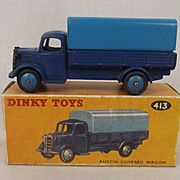 Dinky Toys No. 413 Blue Austin Covered Wagon 1954-1960