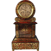 19th Century French Boule Marquetry Two Train Bracket Clock