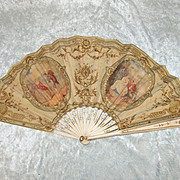 19th Century French Hand Painted Fan #1