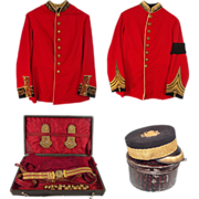Victorian Tunic, Regalia & Pillbox Hat Uniform Set Of Prince Ernst August of Hanover