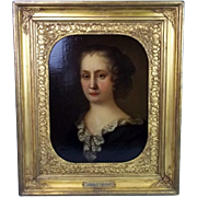 """17th Century Oil Painting of """"Duchess Of Portsmouth"""" Attributed To Sir Peter Lely"""