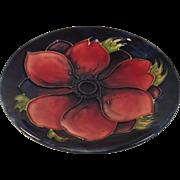 Moorcroft Anemone Pattern Blue Pin Dish