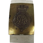 SOLD George III Circa 1800 General Infantry Belt Plate