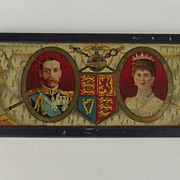 King George V Coronation Rowntrees Chocolate Tin With Original Chocolate c1911