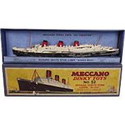 Boxed Pre-War Dinky Toys No. 52 Cunard White Star Liner Queen Mary No.534 ...