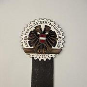 Vintage Enamel Osterr Automobile Club Car Badge