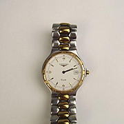 Gents Stainless Steel Two Tone Longines Conquest Wristwatch