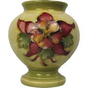 Moorcroft Orchids Pattern Small Vase With Queen Mary Label
