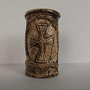 Circa 1220 French Cow Bone Quill Pot