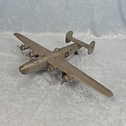 WW2 Wartime Hand Built Model Of The Liberator Bomber