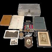 WW2 No. 640 RAF Bomber Squadron Air Crew Europe Medals With Log Book Etc.