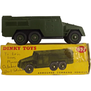Dinky Toys No. 677 Armoured Command Vehicle In Green, Boxed # 2