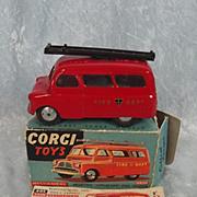 Boxed Corgi 405m Bedford Utilicon Fire Tender 1956-60