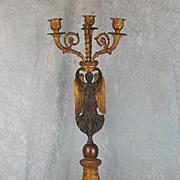 19th Century Gilt Bronze French Angel Candelabra