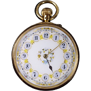English 1858 Ladies 18k Gold pocket watch by W. Meridith - Superb Condition