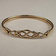 9ct Yellow Gold Celtic Knot Bangle