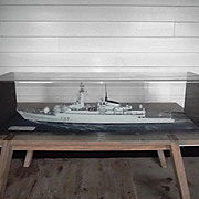 Cased Scale Model Of Type 21 Frigate HMS Amazon