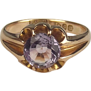 Chester 9ct Yellow Gold Amethyst Ring UK Size I US 4 ½