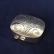 Birmingham 1995 Engraved Silver Pill Box