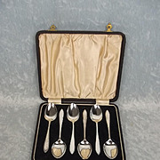 Cased Set Of Six Silver Teaspoons Birmingham 1937
