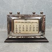 1937 Birmingham Silver Framed Perpetual Calendar
