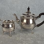 London 1872 Victorian Two Piece Silver Tea Set