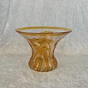 Circa 1930's Thomas Pseudo-Webb Fleur Pseudo-Cameo Glass Vase
