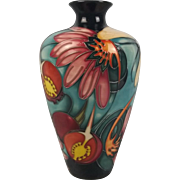 Moorcroft Floral And Dragonfly Vase By Emma Bossons 2004