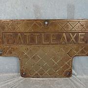 HMS Battleaxe (F89) Bronze Tread Deck Plate – Type 22 Frigate