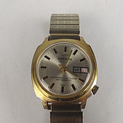 1970's Superoma Gold Plate Deluxe Manual Watch