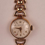 Ladies Waltham  9ct Gold Wristwatch